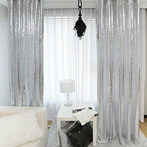 """trlyc cortina de plata de lentejuelas, seleccione su tamaño, traje de tela de lentejuelas, telón de fondo Fotografía, mejor boda/hogar/fiesta moda decoración, materiales sintéticos, Plateado, 72""""*72"""""""
