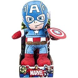 Marvel 31064–muñeco de peluche de Capitán América, 25,4 cm