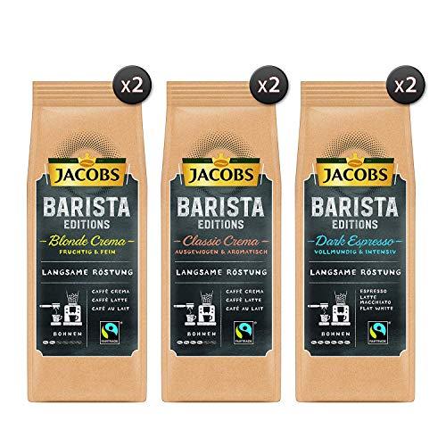 Jacobs Kaffeebohnen Barista Editions Ultimate Vielfaltspaket, 6er Pack (6x 210g Bohnenkaffee)