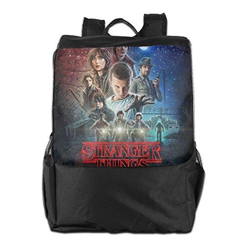 fuoalf Stranger Dinge, Schule Reisen Laptop Schultern Rucksack Tasche, schwarz, Einheitsgröße -