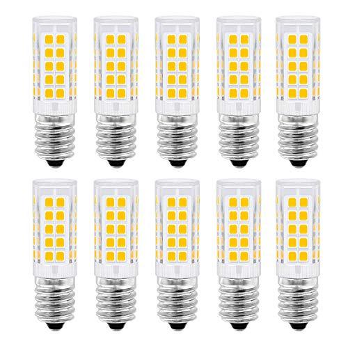E14 LED-Birne, 5 Watt Gleichwertiges 50W, Warmweiß 3000K für Dunstabzugshaube, 500 Lumen, AC220-230V, Nicht Dimmbar, Kleine Edison-Schraube 2835SMD Lamp10-Packs