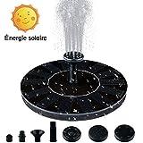Splaks Solarbrunnen, rund, solarbetrieben, schwimmend, Mini-Brunnen, Garten-Wasserpumpe, für den Außenbereich, Pool, Deko-Brunnen, Hof, kleiner Teich