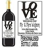 Eternal Design Personalisiertes Flaschenetikett Hochzeit Tag Wein/Spirit wdwl 26