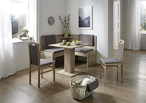 Eckbankgruppe mit Tisch 75 x 75 cm Eiche Sonoma