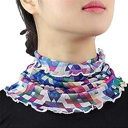 Huixin Día De La Madre De Outdoor Regalo La Mujer Tubo Bufanda Loop Bufanda Flores Lunares Patrón Extraíble Collar De Imitación (Color : #10, Size : One Size)