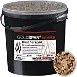GOLDSPAN smoke B 20/160 Räucherspäne Räuchern Buche Räucherholz Smoking 5kg inkl. Abfüllschaufel