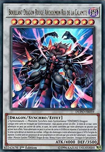 YU-Gi-Oh! Bouillant Dragon Rouge Archdémon Roi de la Calamité: DUPO-FR059 -VF/Ultra Rare-