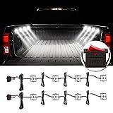 Favoto 8x6 LED LKW Bett Licht Auto Innenraum Beleuchtung mit Schalter IP67 Wasserdicht 5730 SMD LED Streifen Kits 12V für Auto, LKW,SUV