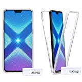 Lincivius Huawei Honor 8X Hülle 360, Huawei Honor 8X HandyHülle 360 Grad Case Clear Transparent Cover 2 in 1 Bumper Silikon Zubehör Tasche