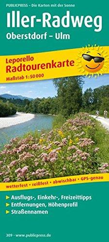 Iller-Radweg, Oberstdorf - Ulm: Leporello Radtourenkarte mit Ausflugszielen, Einkehr- & Freizeittipps, wetterfest, reissfest, abwischbar, GPS-genau. 1:50000 (Leporello Radtourenkarte / LEP-RK)