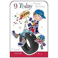 Jonny Javelin Boy Age 9 Happy Birthday Card