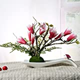 LVLIDAN Kunstblumen real touch künstliche Blume Kreative Set Orchidee Keramik Fach Rosa