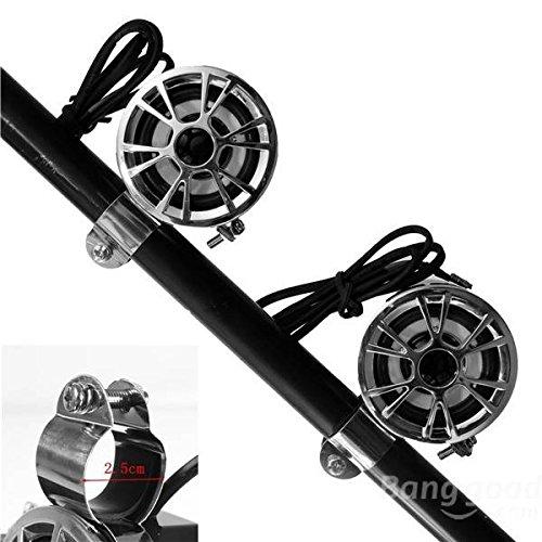 mark8shop Motorrad Stereo-Lautsprecher Lenker Wasserdicht Dirt Bike ATV Audio System -
