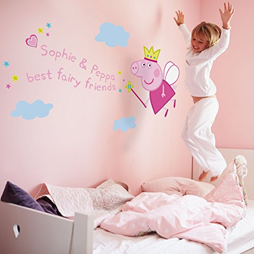 Personalised Fairy Princess Peppa Pig Wall Stickers (Regular Size) |  Official Peppa Pig Wall Stickers Range: Amazon.co.uk: Kitchen U0026 Home Part 26