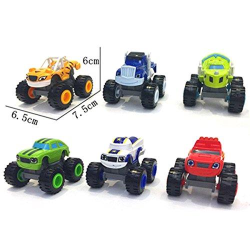 Genießen Spielzeug Modelle Fahrzeuge Auto Verkehrsmodelle Monster Truck Kunststoff Spielzeugauto für Kinder ab 3 Jahr (6 psc)