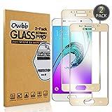 Owbb 2 Stück Gold Gehärtetes Glas Display schutzfolie Für Samsung Galaxy A5 (2016) A510 5.2zoll Full Coverage Schutz 99% High Transparent Explosionsgeschützter Film