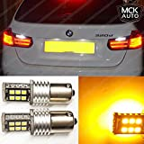 MCK Auto Brightest Quality to Price Ratio Bulbs on the Market 15SMD PY21W Amber Orange LED Canbus Bulbs Indicator Signal Front Rear 581 BAU15S EB6R1