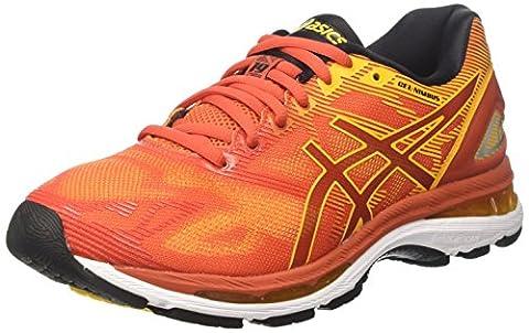 Asics Men's Gel-Nimbus 19 Running Shoes, Multicolour (Red Clay/Gold Fusion/Phantom), 9.5 UK 44.5