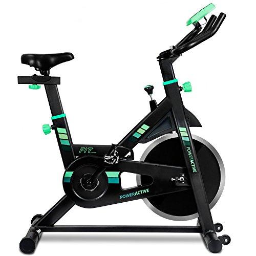 Bicicleta spinning profesional PowerActive de Cecotec. Silenciosa. Ergonómica. Resistencia variable. Sillín...