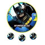 Tortenaufleger Geburtstag Tortenbild Zuckerbild Oblate Motiv: Lego Batman 05 (Oblatenpapier)