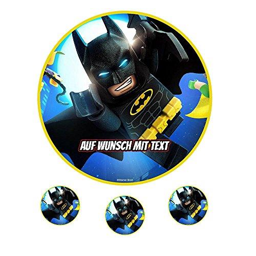 Tortenaufleger Geburtstag Tortenbild Zuckerbild Oblate Motiv: Lego Batman 05 (Zuckerpapier)