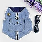 TYJY Jean Kleidung Für Kleine Hunde Katze Mode Haustier Weste Cowboy Jaket Mantel Teddy Hund Kleidung Chihuahua