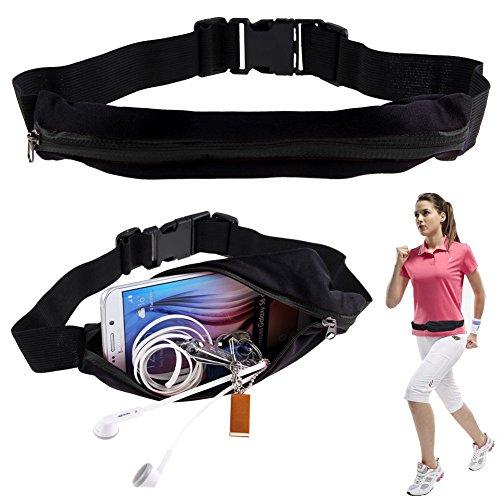 BOOLAVARD sac élastique Double Glissière Multi-Fonctionnelles Sportives Poches Ceinture de Sport Téléphonie Mobile Packs sac de Taille