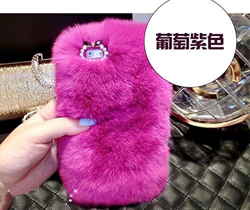 Coque iPhone 6/6S , iNenk® Rex Mao Téléphone Shell 3D luxe de diamant Shell réel cheveux doux TPU Téléphone Shell Cover Briller-modèle 14 Motif 13