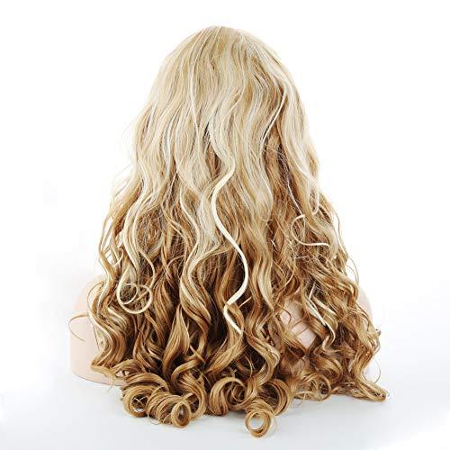 qhtongliuhewu Damenperücke, lang, blond, gewellt, sexy, gelockt, natürliches Haar, 1 Stück -