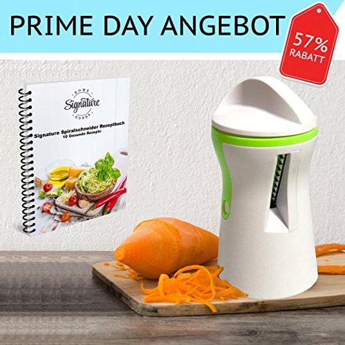 OFERTA PRIME DAY - El mejor espiralizador de verduras - Resistente espiralizador...