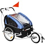 Confidence 2 in 1 Foldable Baby Bike Trailer and Stroller