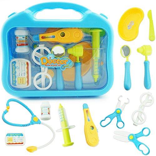 Newlemo Arztkoffer Kinder Klein für Kinder ab 3 Jahren Arztkoffer Kinderspielzeug mit Handy,12-Teilige