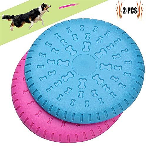 IW.HLMF 2pcs Perro Frisbee, Perro Volador Disc, Perro Grande Frisbee Indestructible Goma...