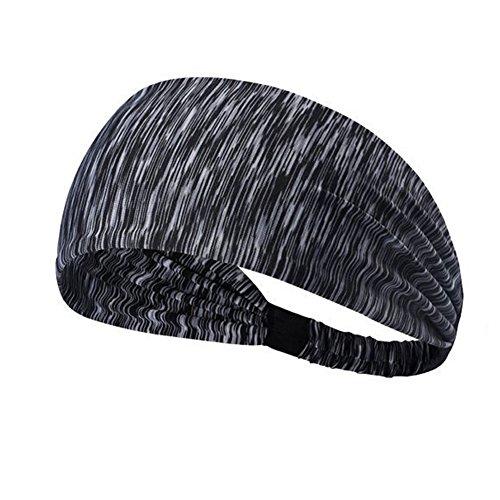 Angtuo sweatband elastiche fasce sportive, non slip copricapo sportivo leggero per uomini, donne, yoga, allenamento, corsa, crossfit e ciclismo