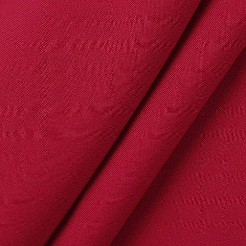 AmazingDays Maglia a manica lunga - Monospalla - Stampa animalier - Donna Rosso