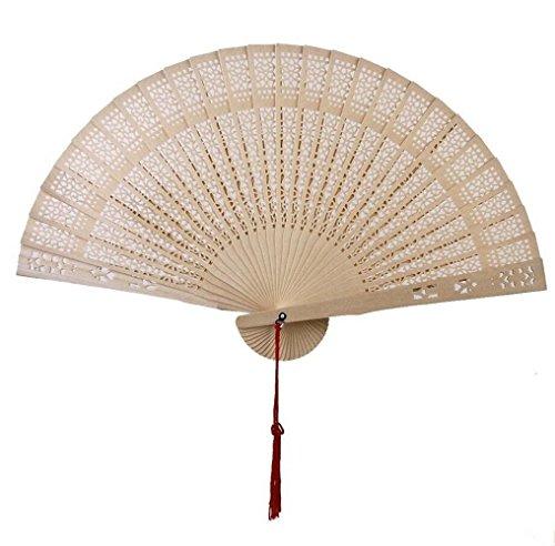 Leisial Hueco Abanico Plegable de Madera de Bambu Vintage Talla de Manualidades...