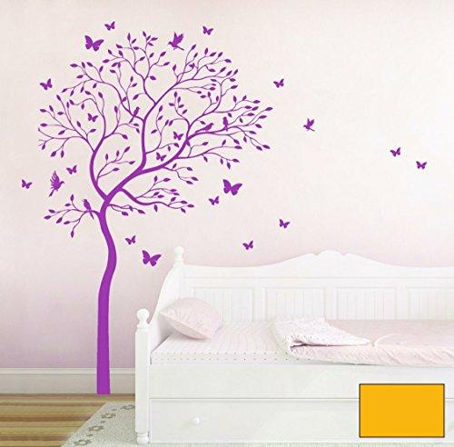 graz-design-adhesivo-decorativo-para-pared-algodon-con-ruisenor-y-mariposas-m1536-sonnengelb-xxl-137