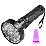 Wzlight UV-Taschenlampe 100 LED 395 NM UV-Detektorlicht für Hunde- und Katzenurin, Tierflecken, Bettwanzen, Pinzetten, Mechanische Leckkontrolle