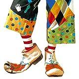 NET TOYS Zapatos de Payaso para Adulto | Cómico Accesorio para Disfraz de Payaso Zapatos Gigantes de látex | Inmejorable Atuendo para carnavales y Festivales