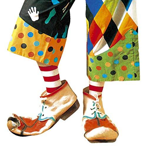 Amakando Bunte Clown-Schuhe Herren / Witziges Kostüm-Accessoire Hof-Narr / EIN Blickfang zu Fastnacht & Mottoparty (Hanswurst Kostüm)