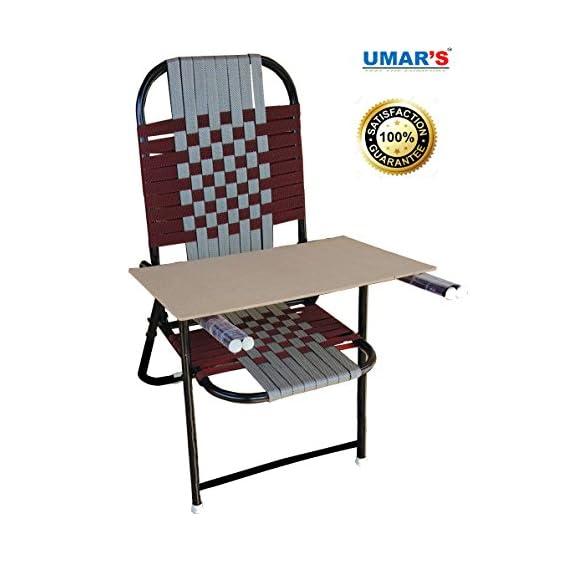 UMARS Study Chair Folding Chair, Hallow Iron & Nawar Chair 1 Piece+ Free PAD