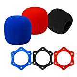 #5: 3 Pcs Hexagon Anti-Rolling Mic Protection Rings and 3 Pcs Replacement Headset Microphone Cushion Pads Windscreen Foam Cover