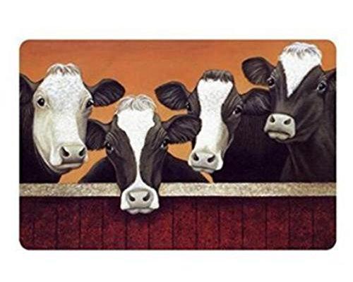 Eureya Funny Milch Kuh Fußmatten Fußmatte Innen/Außen Badezimmer Wohnzimmer Küche Teppiche Home Decor 40X 60cm - Trocken-milch-bad