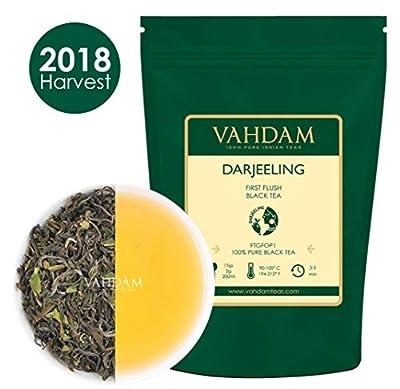 Première cueillette de thé de Darjeeling de la plantation,50 tasses,thé noir en feuilles,fleuri, aromatique et délicieux,cueilli, emballé et expédié directement de l'Inde,thé frais du jardin,100g