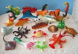 24er Set Fische und Meerestiere 3-7cm sehr detailliert