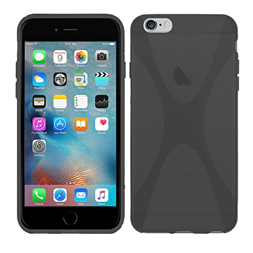 Apple iPhone 6S Plus (5,5 Zoll) - TPU Schutzhülle X-Style X Design Case Schutz Cover Etui Hülle in Transparent - RT-Trading Grau