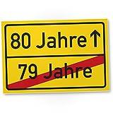 DankeDir! 80 Jahre (79 Jahre Vorbei) - PVC Schild, Geschenk 80. Geburtstag- PVC Schild, Geschenkidee Geburtstagsgeschenk Zum Achtzigsten, Geburtstagsdeko/Partydeko/Party Zubehör/Geburtstagskarte