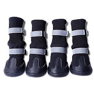 Septven Paw Protector Chien Pet Chaussures Bottes Respirant Genou Bottes Pliable Chaussures Réfléchissantes à la Nuit Pour Moyen/Grand Chien