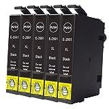 Caidi 5x noir pson 29xL cartouches d'encre avec Nouvelle mise à jour puce Cartouches d'encre Compatibles avec Epson Expression Home XP-332XP-335xp-235XP-432XP-435xp-245xP- 445xp-330xp-430
