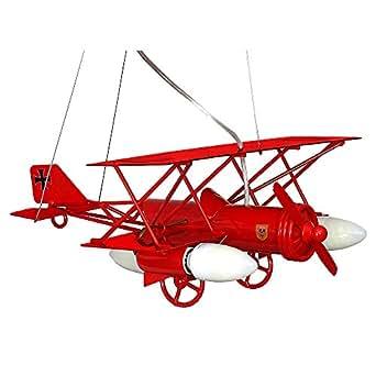 Samolot aereo rosso lampada per bambini bambini luce for Lampadari per bambini